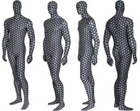 3D GRID performance spandex.