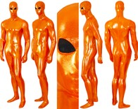 SUPER SHINY COPPER METALLIC heavy spandex.