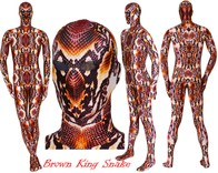 BROWN KING SNAKE heavy spandex.